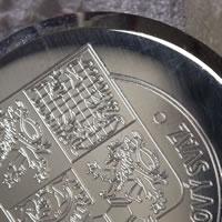 Sølvfat med gravering