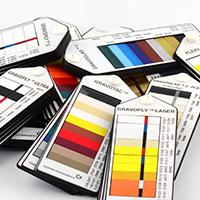 Fargevelger på materialer