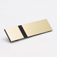 Materiell for gravering i gull og svart